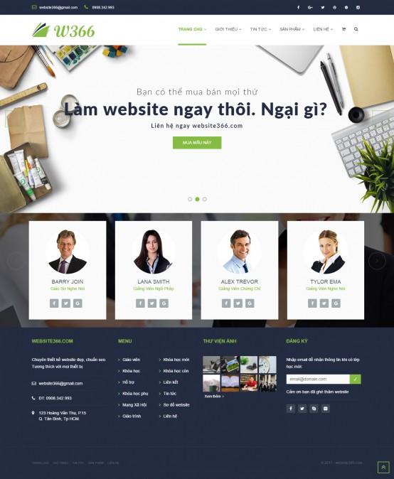 Mẫu website giáo dục, luyện thi
