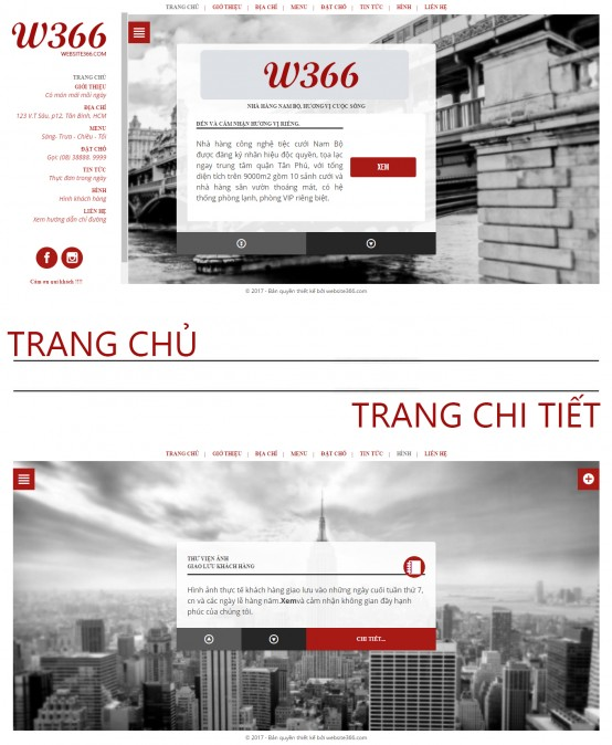 website menu nha hang