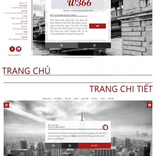website menu nha hang