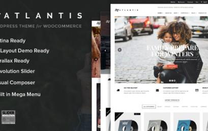 Atlantis – Multi Layout e-Commerce theme wordpress sạch