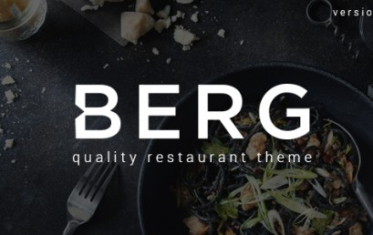 BERG – Restaurant WordPress theme wordpress sạch