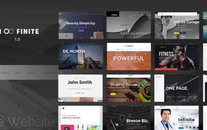 Infinite – Responsive Multi-Purpose theme wordpress sạch