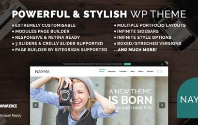 Nayma – Responsive Multi-Purpose theme wordpress sạch