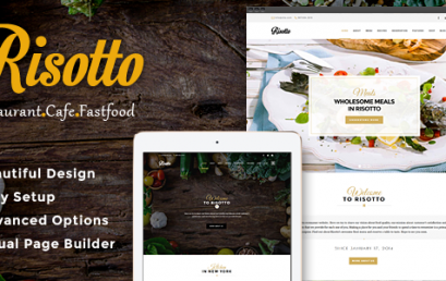 Risotto – WordPress Restaurant & Cafe theme wordpress sạch