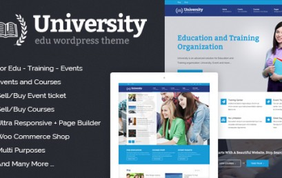 University – Education, Event and Course theme wordpress sạch
