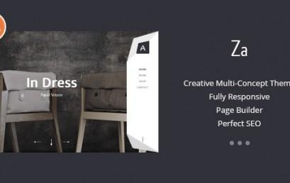 Za – Creative Fashion Portfolio theme wordpress sạch