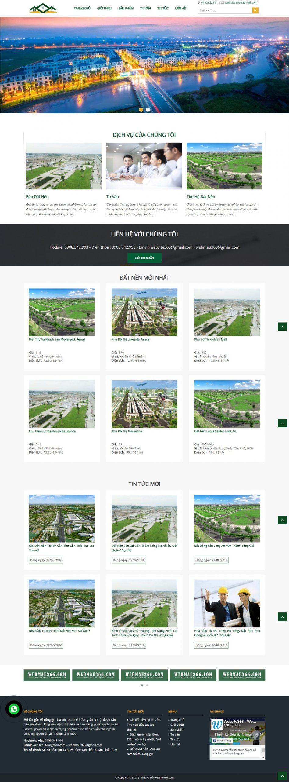 Mẫu web đẹp BDS02