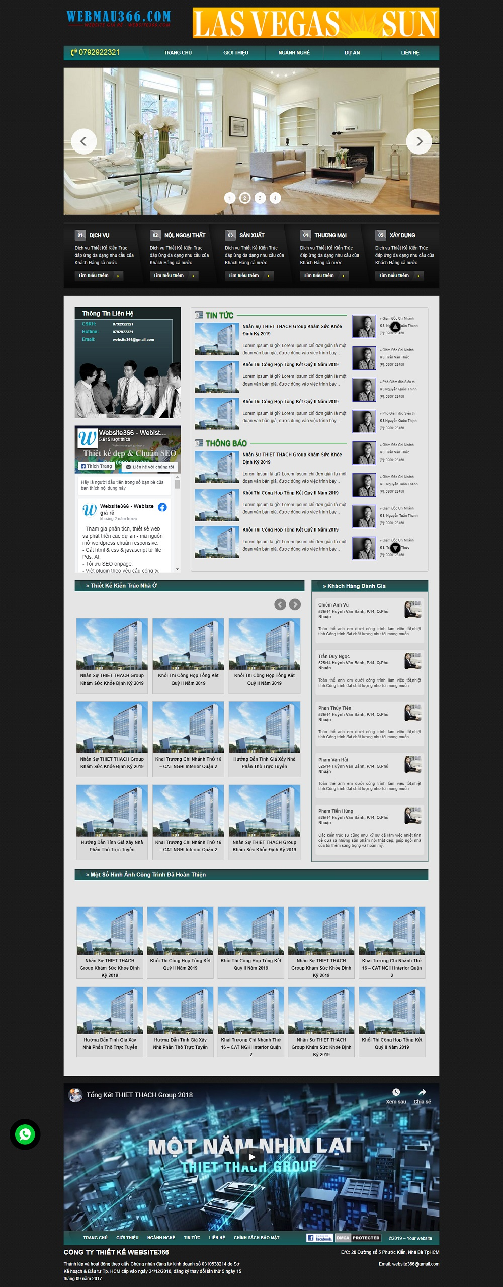 Mẫu web đẹp BDS08
