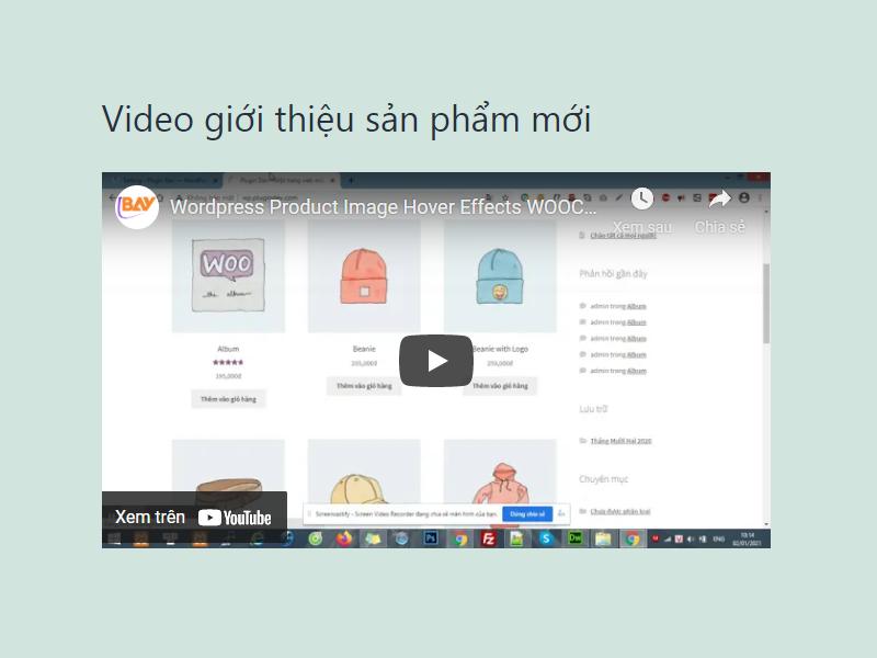 Hướng dẫn cách nhúng Video vào quản trị Website