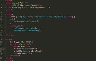 Một số hàm CSS nâng cao trong thiết kế Website