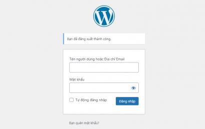 Hướng dẫn cách lấy lại mật khẩu quản trị Website WordPress