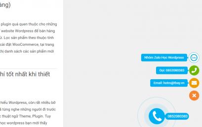 Hướng dẫn cách cài số điện thoại Hotline, Talkto, Zalo, Messenger cho Website