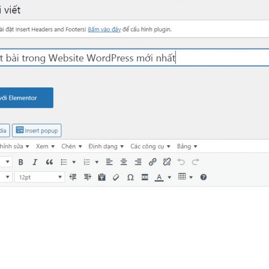 Hướng dẫn cách viết bài chi tiết, chuẩn SEO trong Website WordPress mới nhất